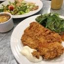 Fried Chicken ($10), Lemon & Dill Fillet ($10)