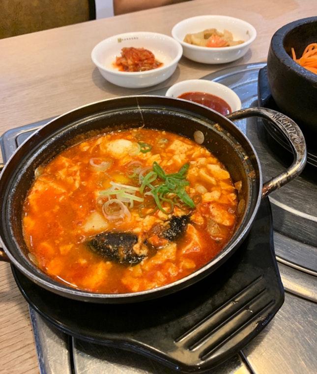 Spicy Seafood Sundubu