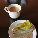 House Milk Coffee, Matcha Chocolate Cake (RM15 in a set from 1-3pm)