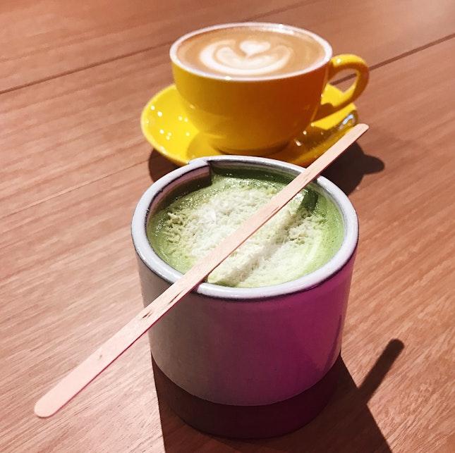 Matcha Gula Melaka (RM10) + Latte (RM8)
