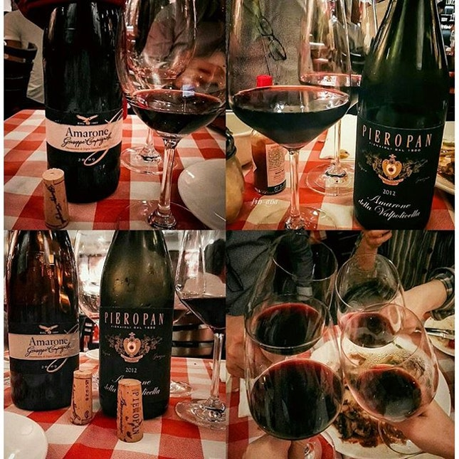 Good food and even better wine 👍😋🍷 #friends #luccastrattoria #whati8today #happybelly #sgfood #foodstagram #robertsonwalk #burpple #amaronedellavalpolicella #amarone