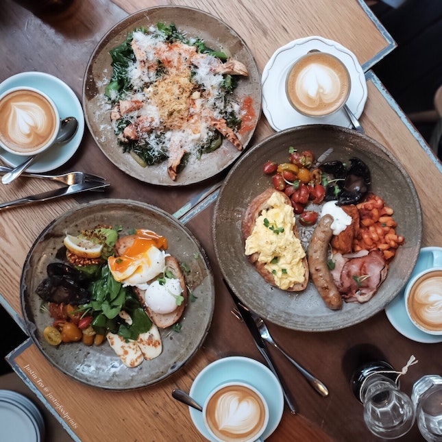 Common Man Brunch [$104 for all food and coffee pictured]
