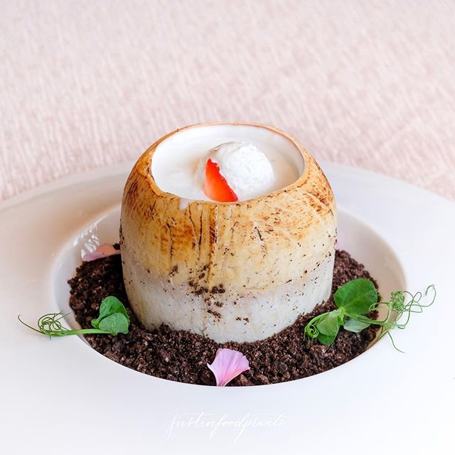 Chilled Almond Cream with Hashima ($24).