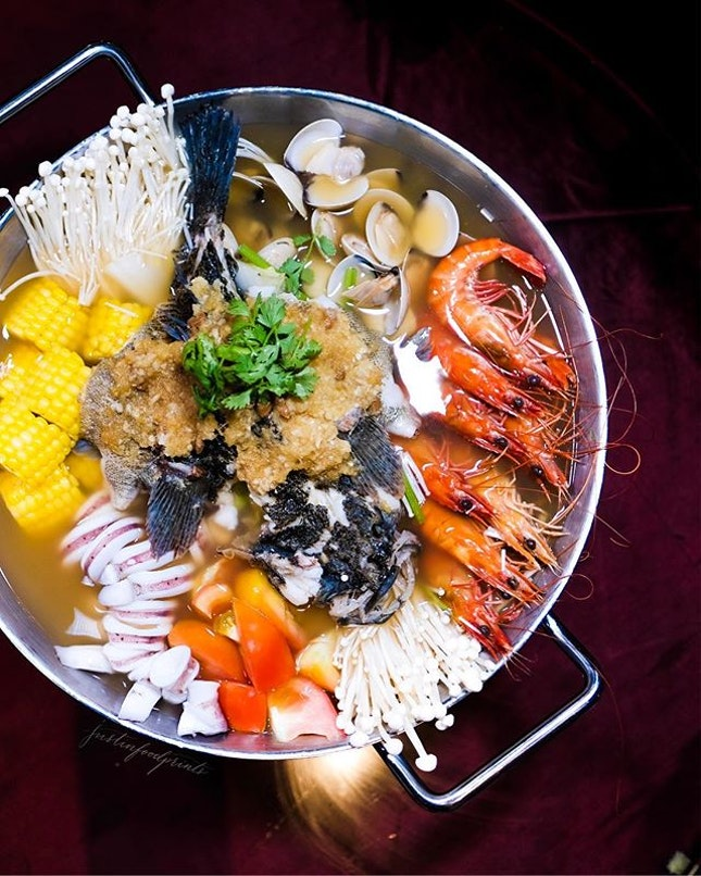 Seafood Hotpot ($128++ for 4 pax).