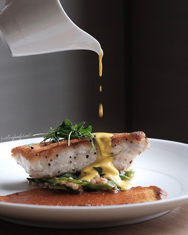 Pan-seared Red-Spotted Grouper ($26).