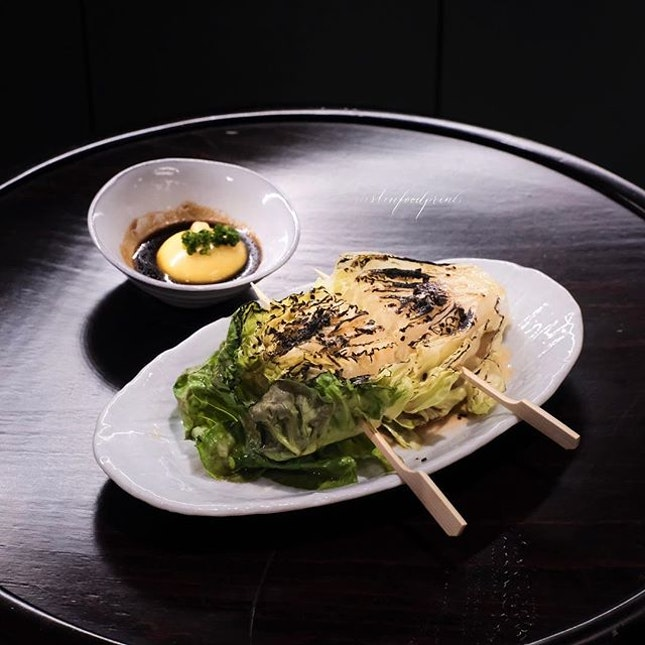 Grilled Baby Romaine ($10).