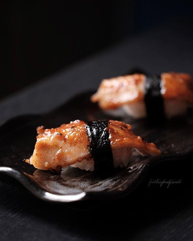 Spicy Miso Char Siew Sushi ($8 for two).