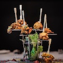Char-grilled laksa flavored kebab (part of 4 course Deepavali Special Menu at $79++) from One-Michelin Starred Song of India.