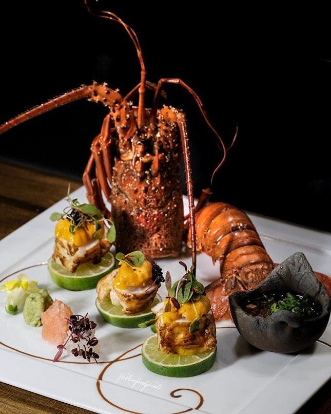 Lobster with Uni (seasonal price).