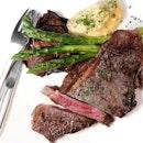 Australian Wagyu Striploin Steak ($68).
