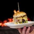 Firebake Wagyu Cheese Burger ($18++, add $2++ for bacon) .