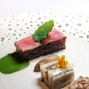 "Ohmi Wagyu (included in my nine-course $218++ ""Gastronomy"" dinner menu)."