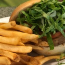 Very Dry Falafel Burger ($20++)
