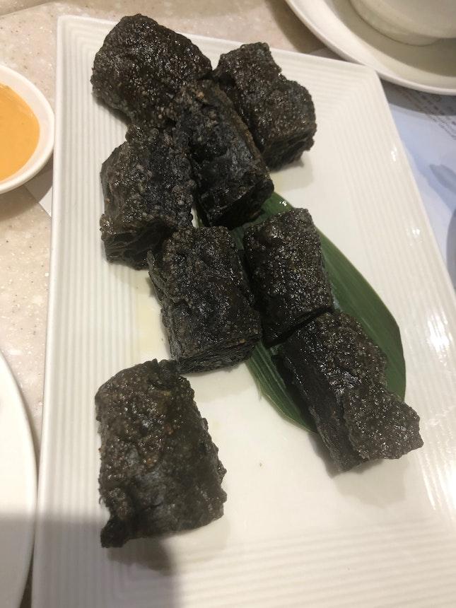 Charcoal You Tiao Stuffed with Squid