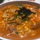 Spicy Pork with Instant Noodles
