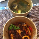 Sup Kambing ($16) & Sambal Sotong ($16.80)