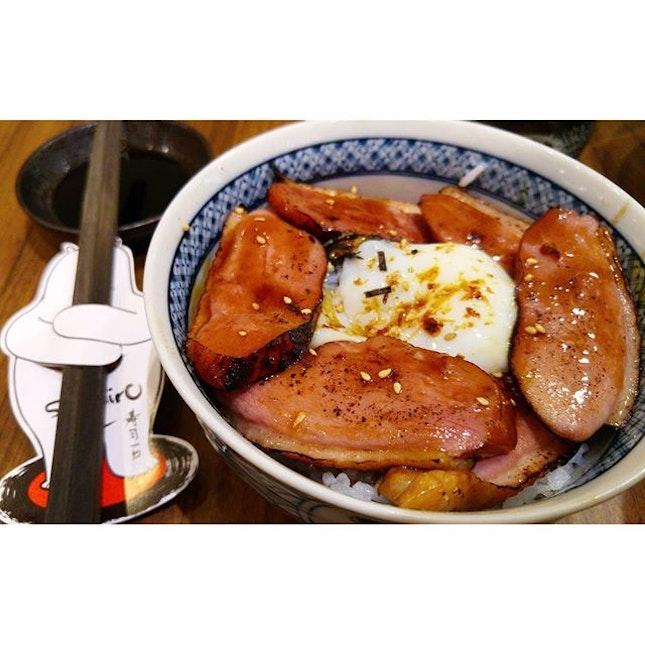 Glazed duck onsen egg