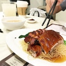 Succulent duck meat with a crisp roasted skin, over springy egg noodles.