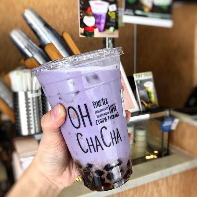 Saw this limited edition Purple Sweet Potato Milk offered by @ohchachasg.