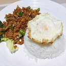 Thai Basil minced pork with rice and sunny egg