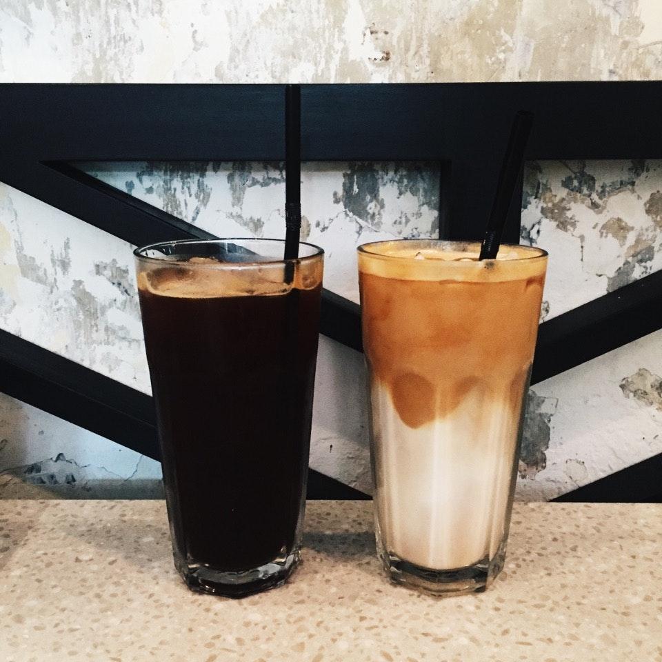 Iced Black ($4.50) Iced Latte ($5)