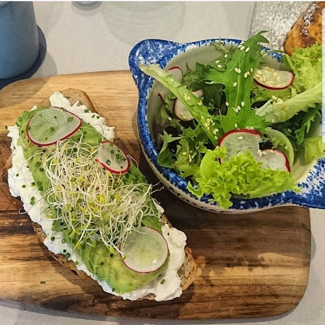 Marinated Crab Tartine With Sourdough Toast
