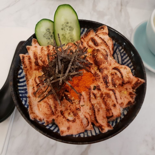 Torched Mentaiko Salmon Donburi