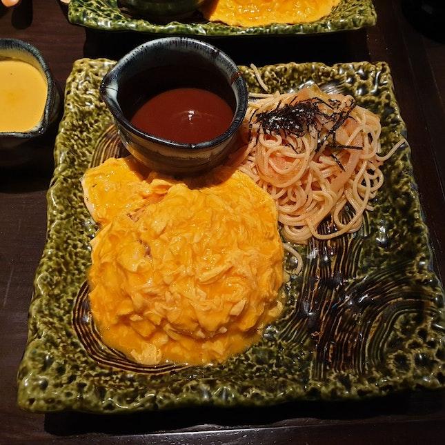 Omu Rice And Mentaiko Pasta Combo