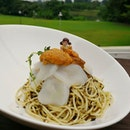 Beat the heat with our Cold Capellini pasta with sea urchin & scallops!