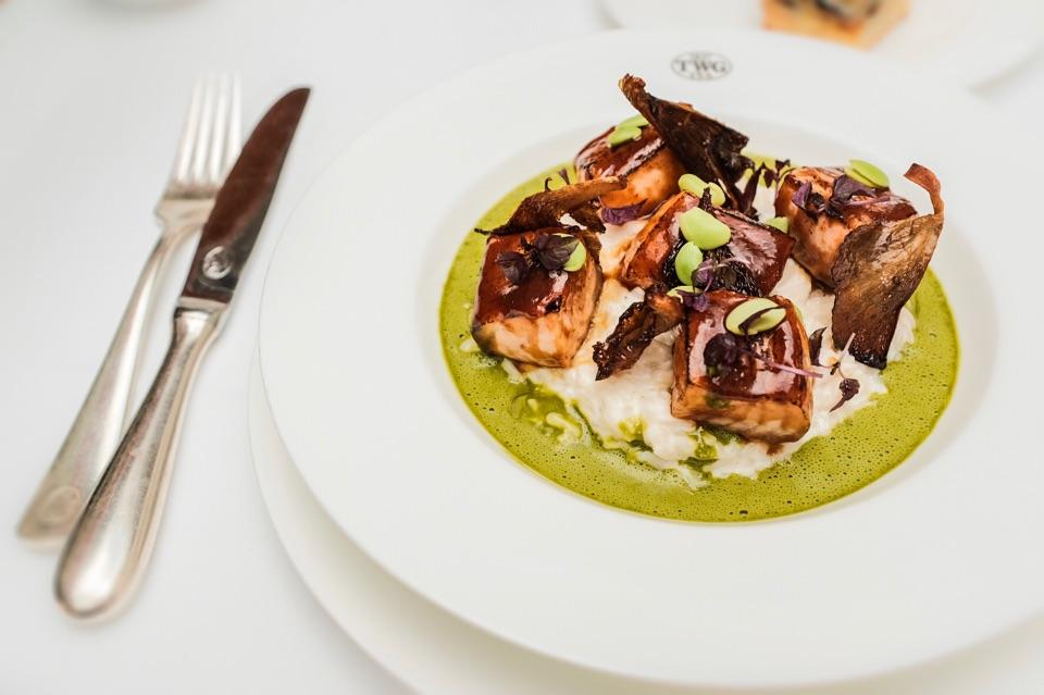 Norwegian Salmon And Matcha Beurre Blanc ($28)