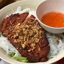 Rice Noodle With BBQ Meat