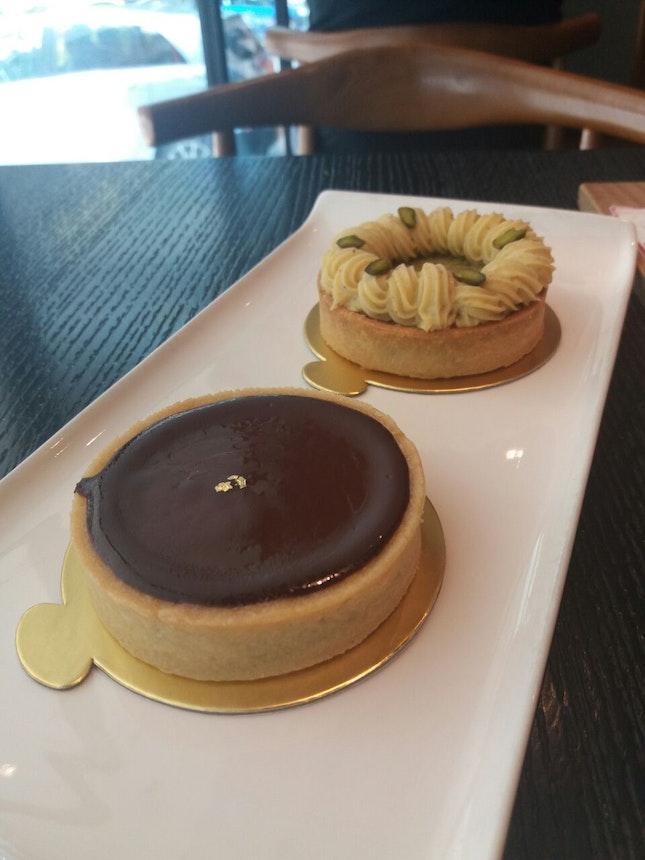 Chocolate & Pistachio Tart