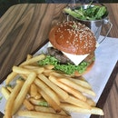 Mushroom And Cheese Burger ($20)