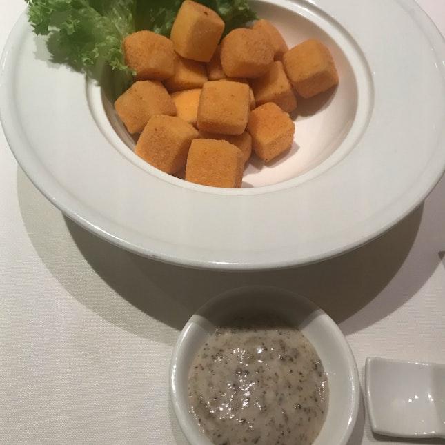 Deep Fried Tofu With Truffle Mayo ($15)