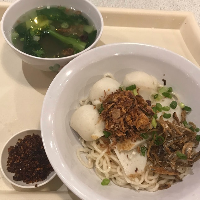 Handmade Fishball Noodles ($5.90)