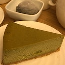 Matcha Cheese Cake With Sesame Ice Cream ($7.90)