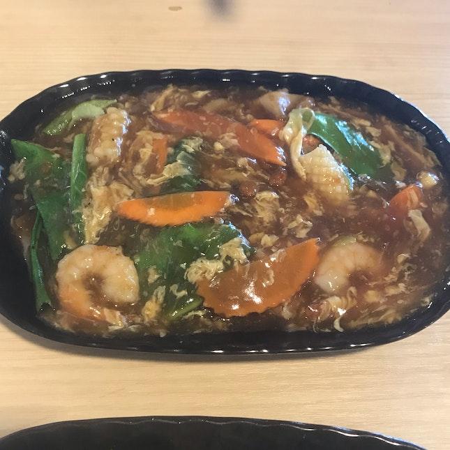 Seafood Thai Hor Fun ($6.90)