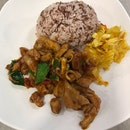 Tom Yum Chicken Rice ($7.50)
