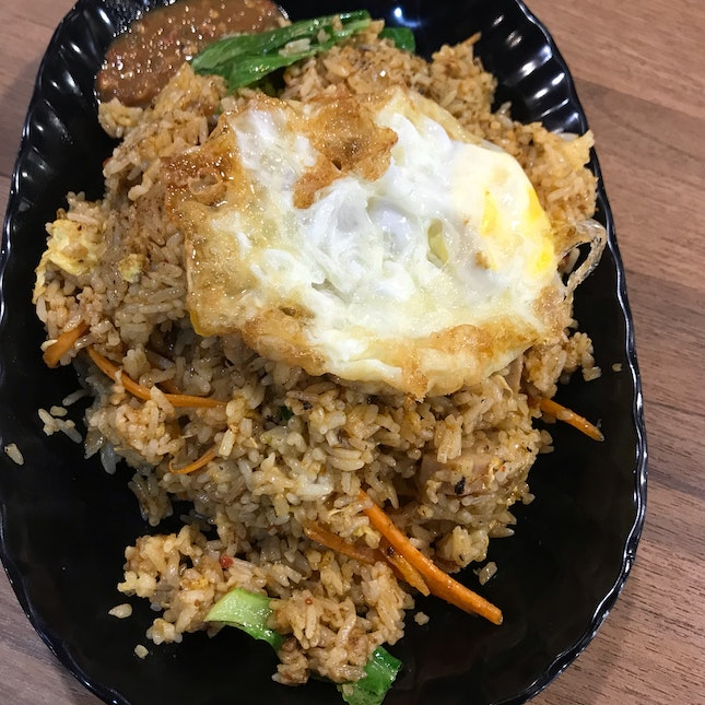Tom Yam Fried Rice With Fried Egg ($5.90+$1)
