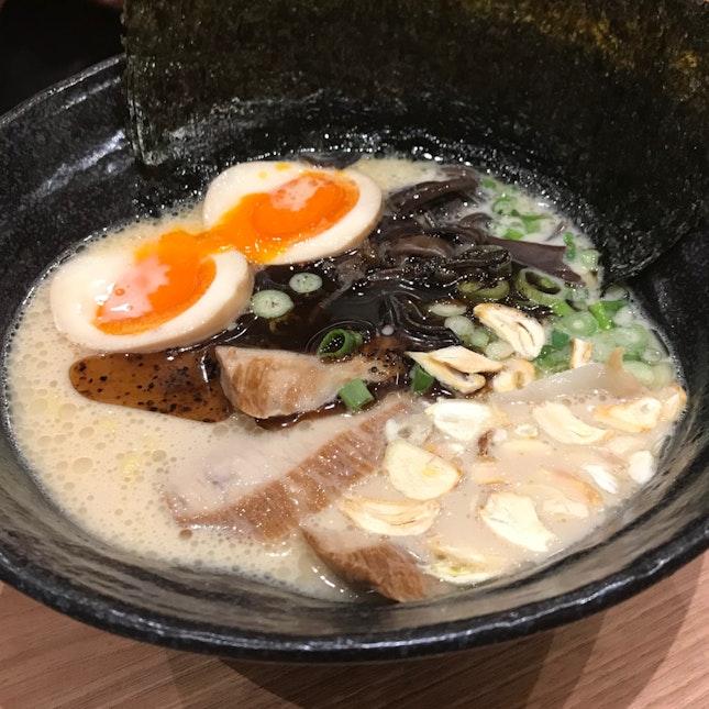 Tonkotsu Ramen With Black Garlic Oil