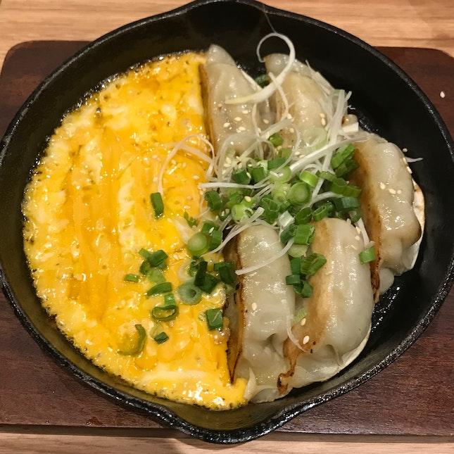 Hot plate Cheese Gyoza