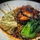 Halal Chicken Char Siew Wanton Mee SGD 4.80 Nett.
