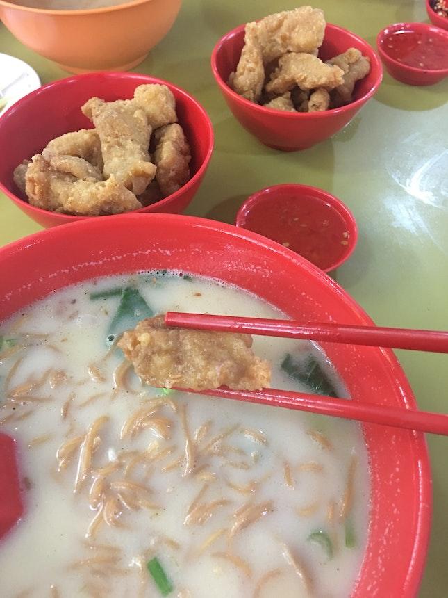 Fried Fish Noodle Soup