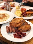 Fabulously Fluffy French Toast ($16/w turkey bacon and sausages)