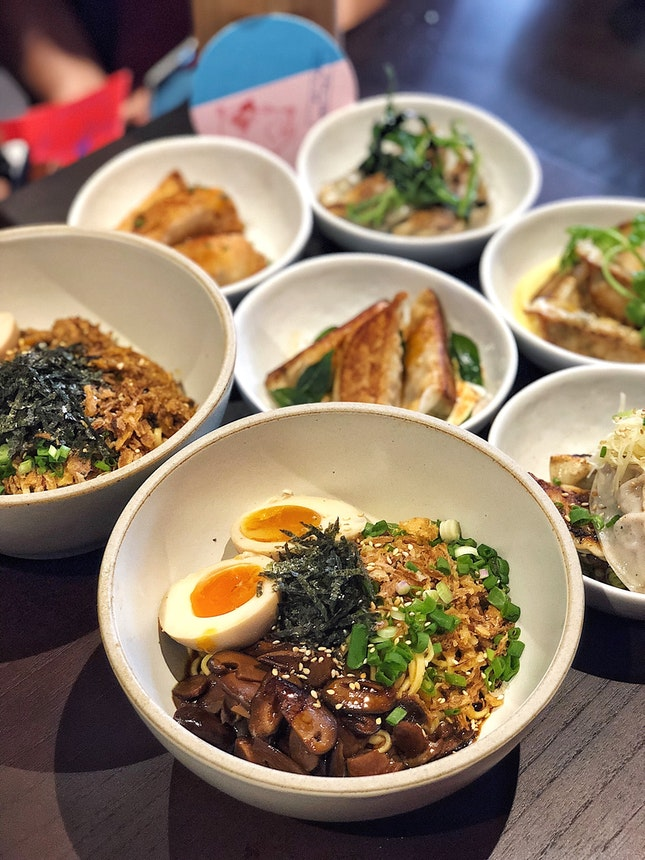 Miso Mushroom Noodles ($5, +$1.50/egg)