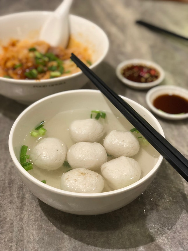 Fishball Noodles ($5.50)