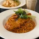 Chilli Crab Pasta ($14)