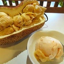 How often do you see cafe or any dessert shop serving chempedak ice cream?