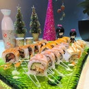 [Shinkei Japanese Restaurant] Assorted sushi being served; looking colorful & delicious isn't it?
