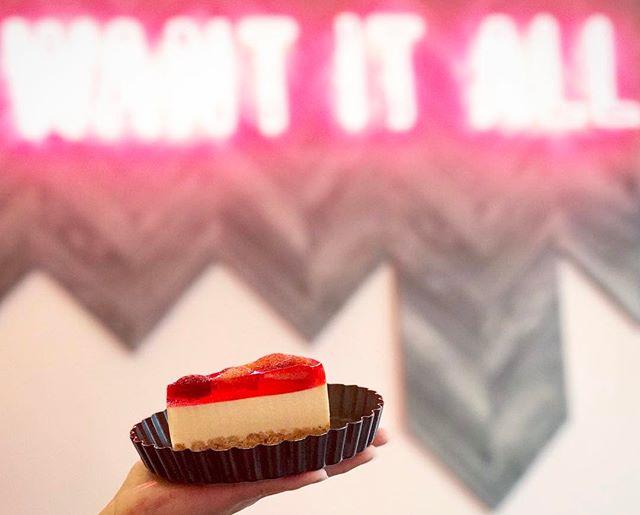 Strawberry Tofu Cheesecake for the short work week.